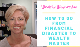 author smiling and introducing video blog entitled how to go from financial disaster to wealth master