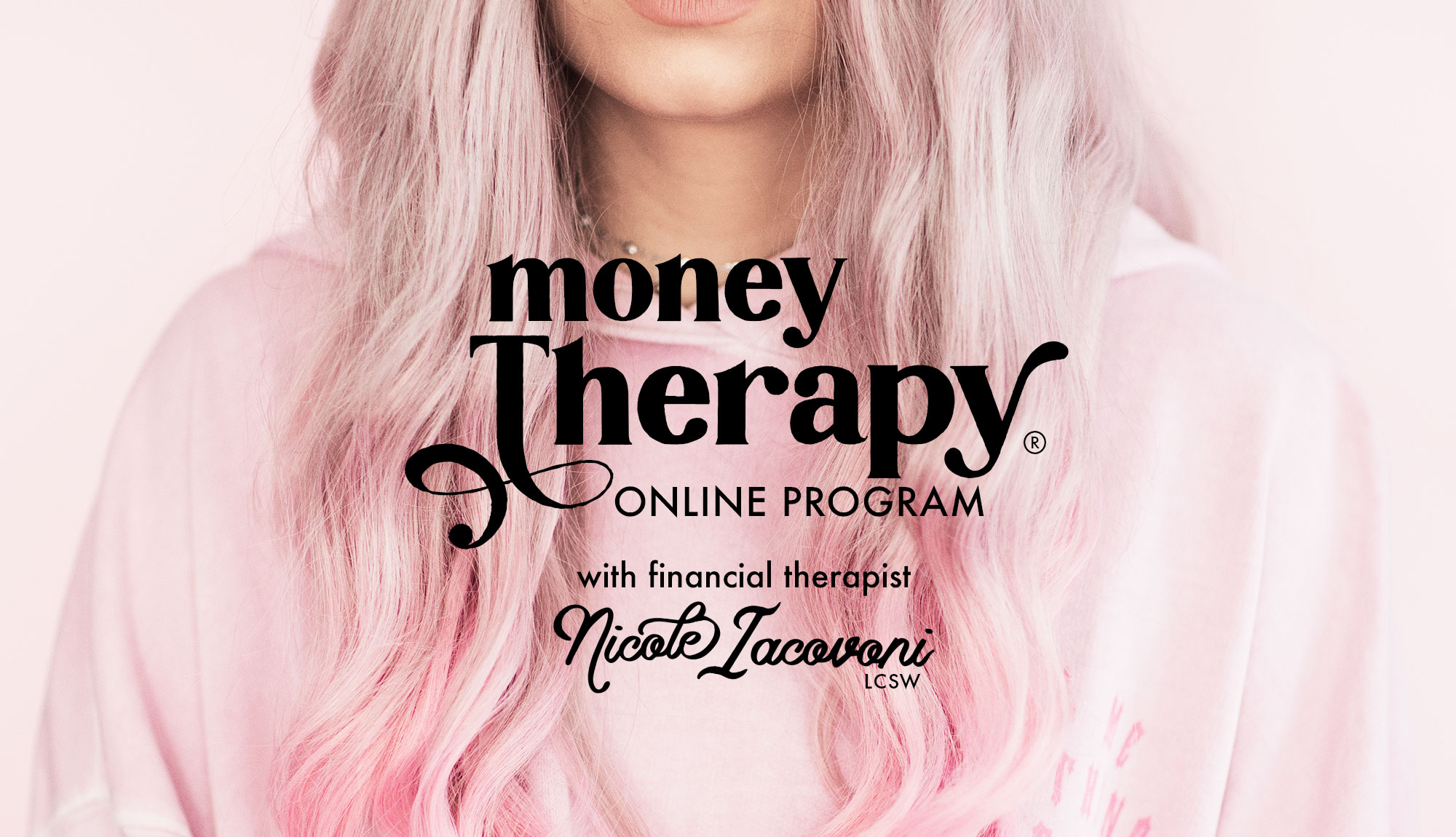 Money Therapy Online Program Logo Hosted By Nicole Iacovoni Financial Therapist